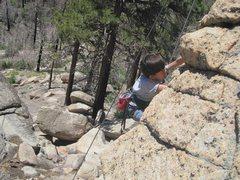 Rock Climbing Photo: Bryn Owen top-roping.