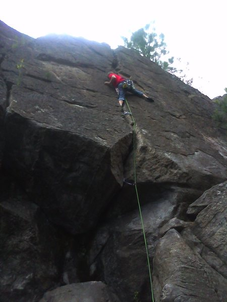 Rock Climbing Photo: Bobby leading Jam Crack.