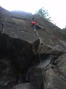 Rock Climbing Photo: Bobby leading Jam Crack.
