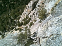 Rock Climbing Photo: We opted to stray away from the direct line up the...