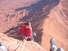 Rock Climbing Photo: Nobody on the route - Suzette and dad on a killer ...