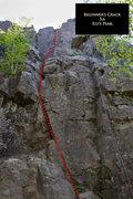 Rock Climbing Photo: Beginner's Crack