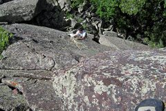 Rock Climbing Photo: Tony B. follows on the F.A. of Supposed.... Photo ...