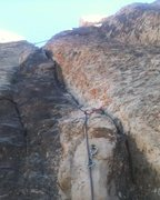 Rock Climbing Photo: A zoomed in view of the protection.