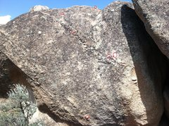Rock Climbing Photo: Follow the (micro) crimps to top out. God speed.