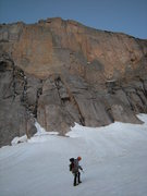 Rock Climbing Photo: Approaching North Chimney