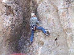 Rock Climbing Photo: Starting off on Jello Wars.