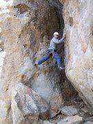 Rock Climbing Photo: An alternative way to climb the route. hee hee