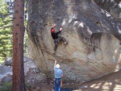 Rock Climbing Photo: At around the 2nd bolt.