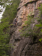Rock Climbing Photo: Anthony past the crux on Cherokee