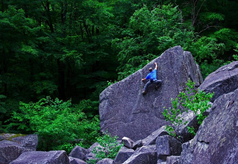 Bouldering in NH.