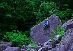 Rock Climbing Photo: Bouldering in NH.  photo: Ryan Nicholson