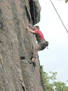 Rock Climbing Photo: Doc not finding it easy to get to the crux on Plum...