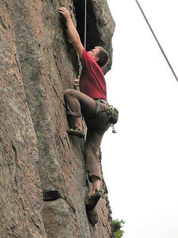 Rock Climbing Photo: Doc on Plumb Line