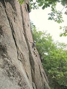 Rock Climbing Photo: Alex on Plumb Line.
