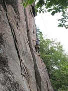 Rock Climbing Photo: Not easy getting to the crux on Plumb Line