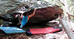 "Rock Climbing Photo: Aaron James Parlier on the FA of ""Corndog Cor..."