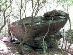 "Rock Climbing Photo: Matt at the start of ""Meatloaf"" (V1)"