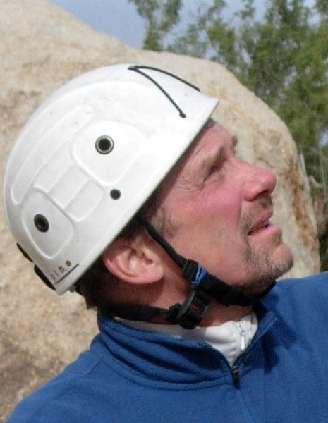 Rock Climbing Photo: Roger Harris belaying at Trash Can Rock
