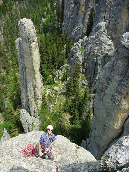 Rock Climbing Photo: Station 13 as seen from atop Spire 1.  The Council...