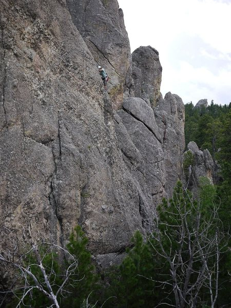 Rock Climbing Photo: Aaron Costello on this fun route.
