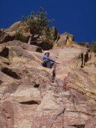 Rock Climbing Photo: Roger Harris on Xanadu, WestRidge, Eldorado Cyn