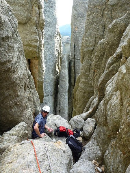 Rock Climbing Photo: Aaron just might be the biggest person to have bee...