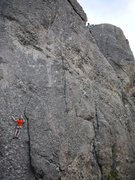 Rock Climbing Photo: Travis on Mr. Critical and Aaron on Second Hand Ro...