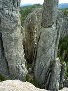 Rock Climbing Photo: Brian on top of the squeeze chimney on his first t...