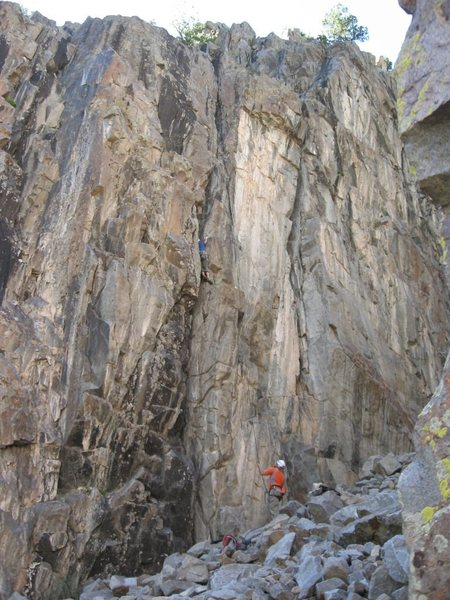 Rock Climbing Photo: Icy Fingers (5.8), Cracked Canyon, Ophir, CO.