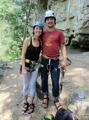 Rock Climbing Photo: Camellia and I at Leda