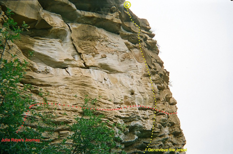 Rock Climbing Photo: Genevieve the Jewel's many amazing horizontals can...