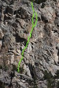 Rock Climbing Photo: P1 to P4 of Wind Machine comprising the lower wall...
