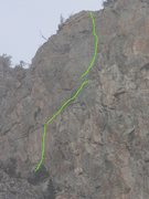 Rock Climbing Photo: P5 to P7 of Wind Machine comprising the upper wall...