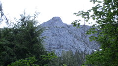 Rock Climbing Photo: Looking up at Exfo Dome from the trailhead