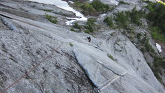 Rock Climbing Photo: Following pitch 3 Dark Rhythm.
