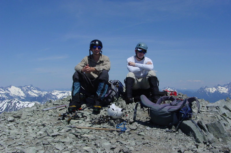 My bro and I on top of Ruth