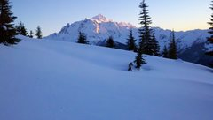 Rock Climbing Photo: Alpenglow on Mt. Shuksan during 2010 winter climb