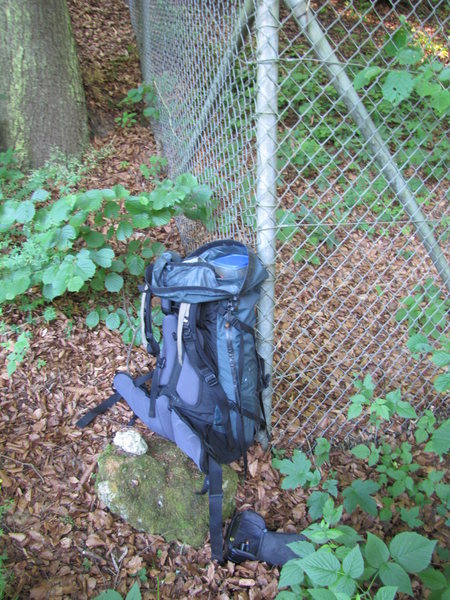 Rock Climbing Photo: See the cairn next to my backpack?