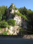 Rock Climbing Photo: Orange is Keilerei. Purple is Loewenzahn. Yellow i...