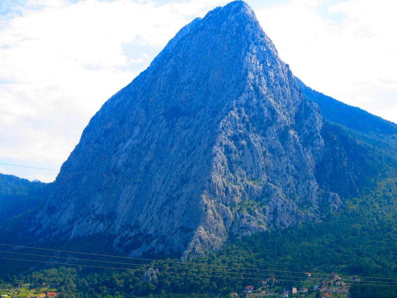 Rock Climbing Photo: An unclimbed, beautiful piece of limestone minutes...