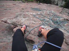 Rock Climbing Photo: First flatiron
