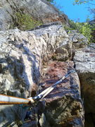 Rock Climbing Photo: The beginning of P2.