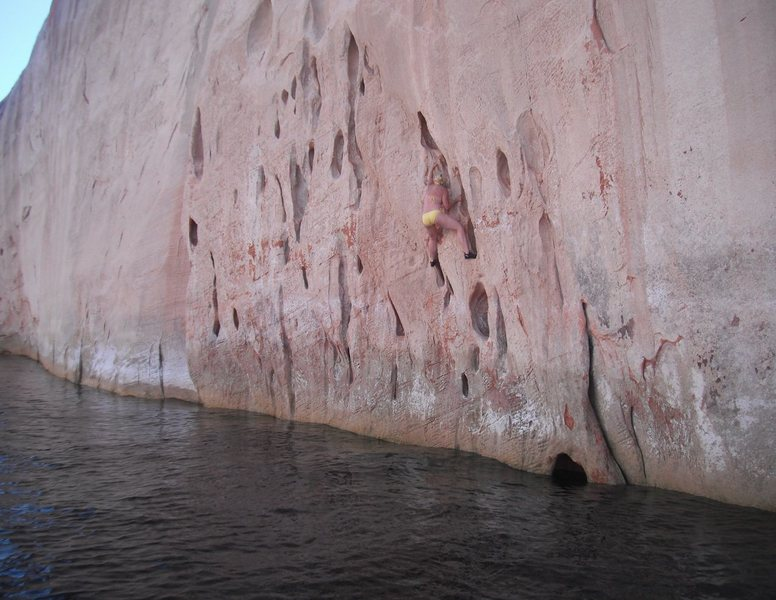 Rock Climbing Photo: Lake Powell - Deep Water Soloing