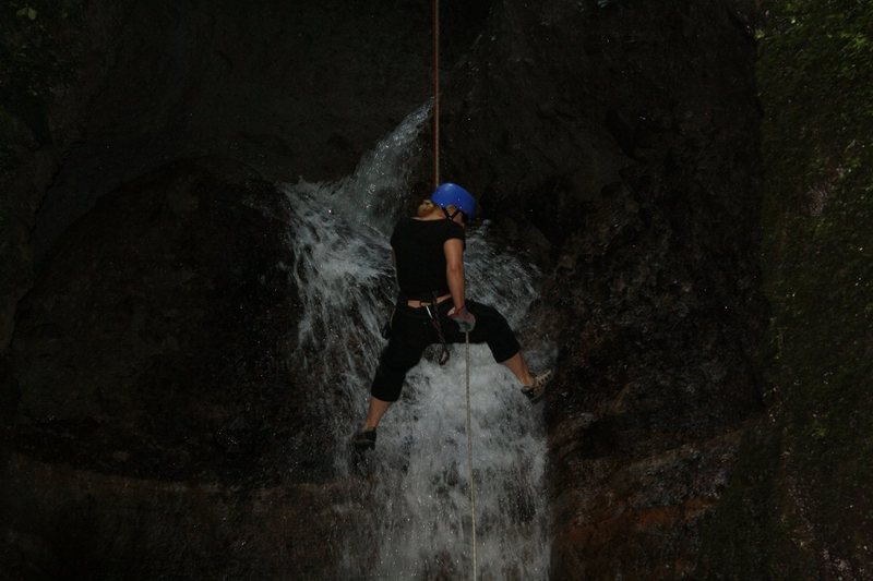 Rappelling waterfalls in Arenal, Costa Rica