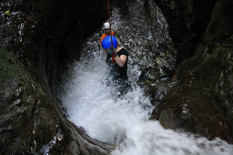 Rock Climbing Photo: Rappelling waterfalls in Arenal, Costa Rica