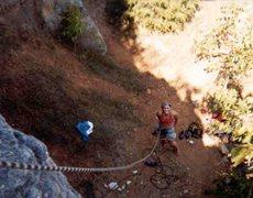 Rock Climbing Photo: Climbing in southern Indiana