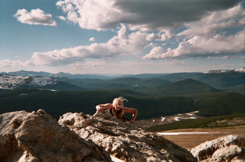 Rock Climbing Photo: On top of the world