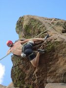 Rock Climbing Photo: Working the left side on the roof at duncans