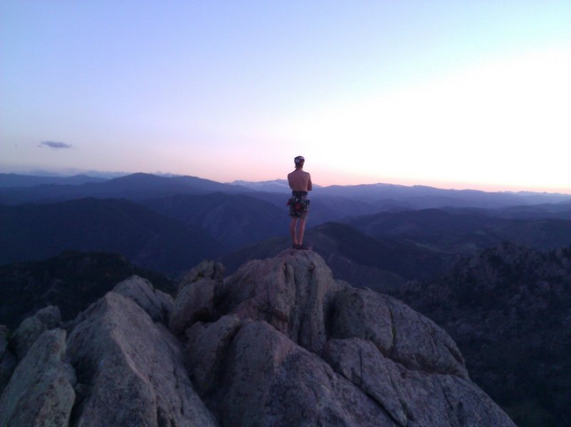 Rock Climbing Photo: On the summit looking west after an evening ascent...